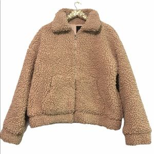 Forever 21 Teddy Jacket Large A